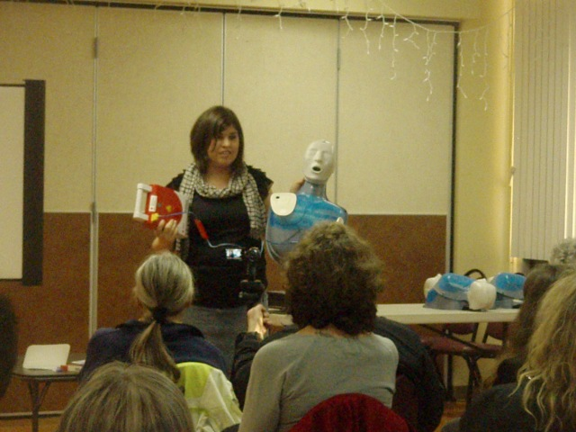 Sarah Rothman, from King County Red Cross, presentation on April 7th