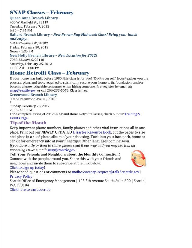 SNAP February Monthly Connection page 2 of 2