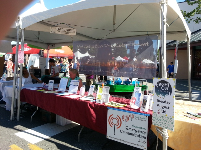 Photo of our booth at Summer Fest 2013