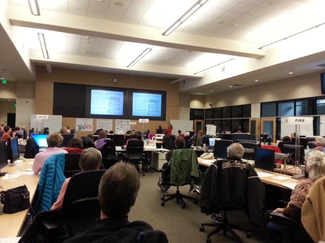 Hub Summit presentation by Deborah Greer (West Seattle), October 19th, 2013 (Photo by Karen Berge)