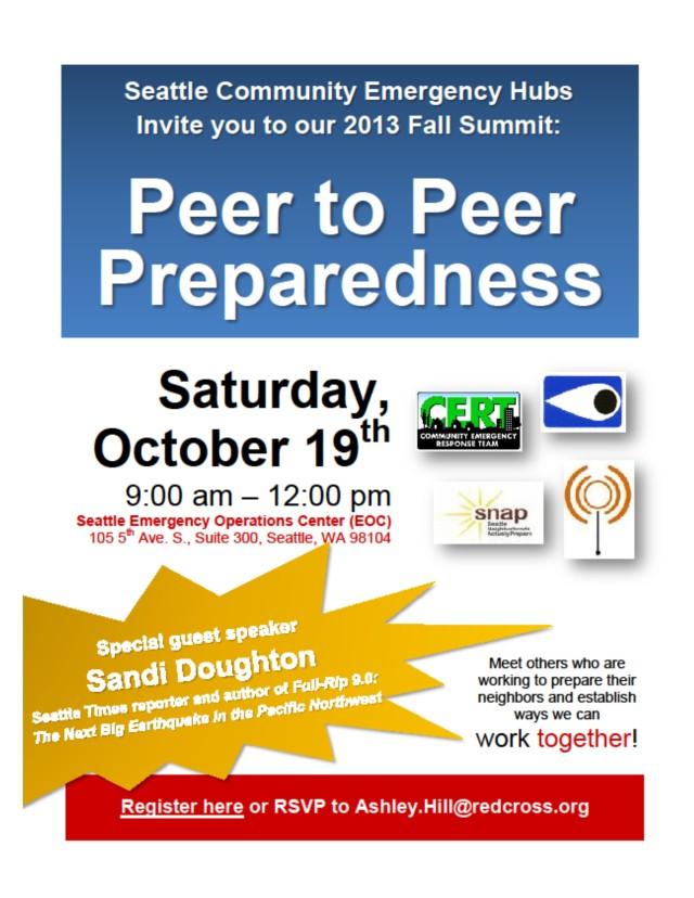 Updated fall2013  Hub Summit flyer