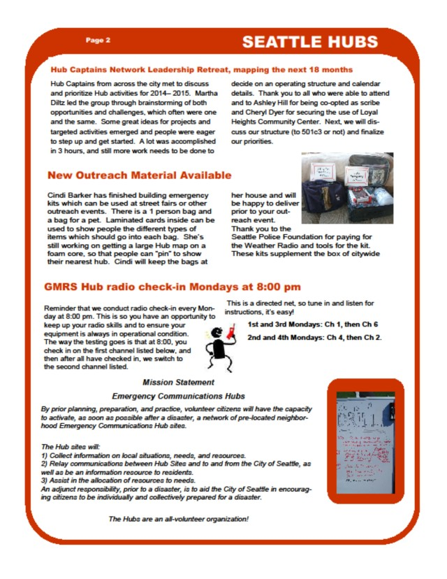 Hub newsletter, page 2 of 4