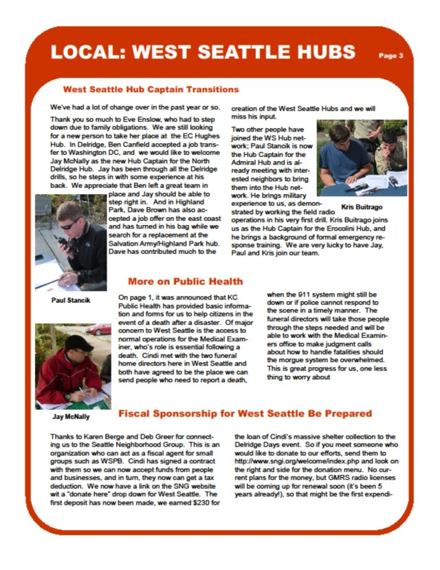 Hub newsletter, page 3 of 4