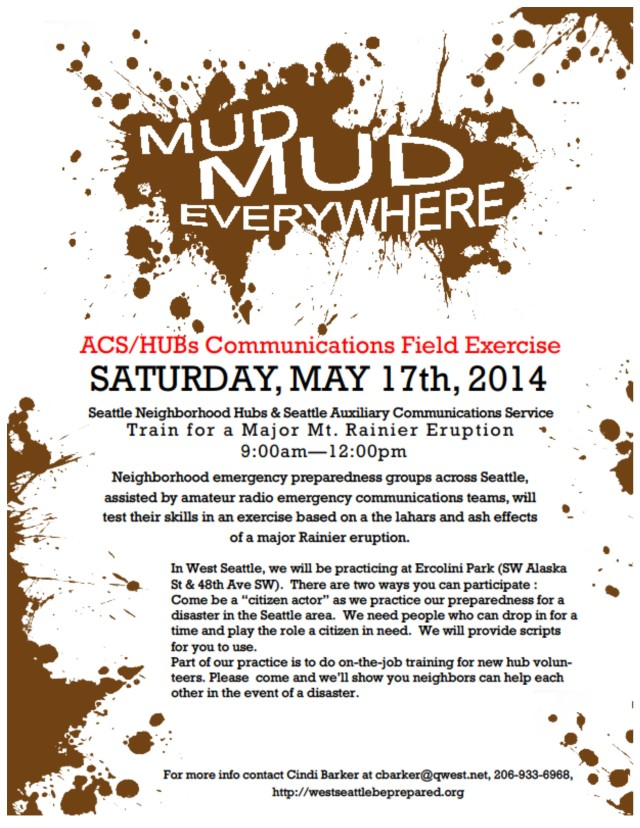 Flyer with more details about the May 17 drill