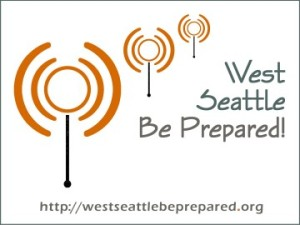 West Seattle Be Prepared graphic with URL