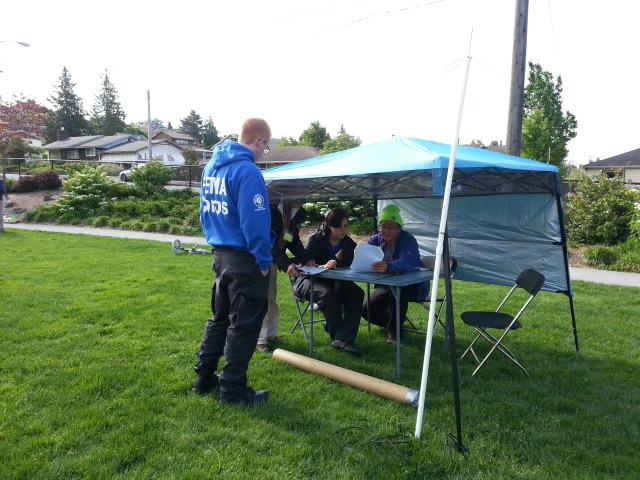 Each hub was set up with 3 tents; this is the Radio Operator's tent.