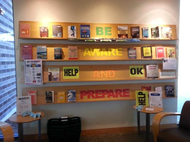 Disaster Preparedness Resources at the High Point branch of the Seattle Public Library