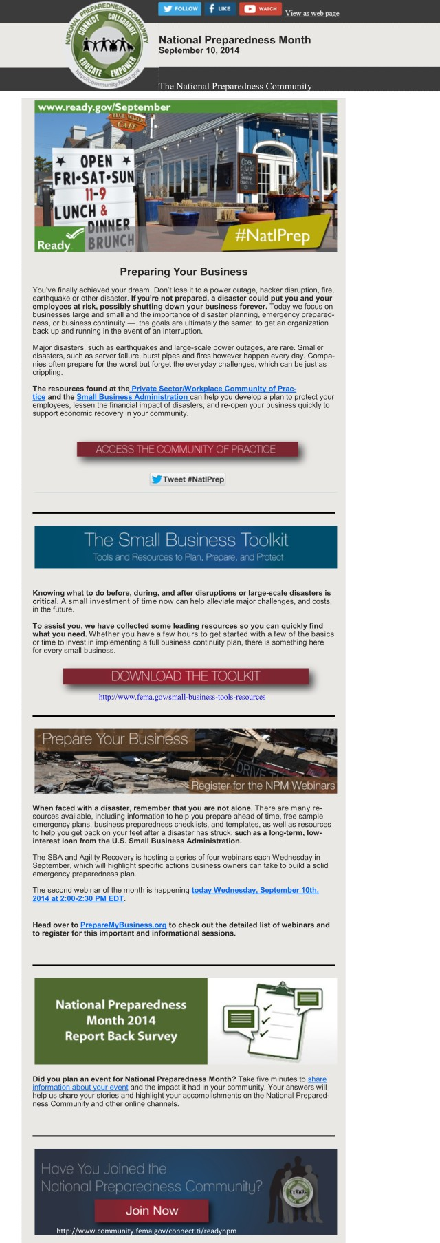 National Preparedness Month, Be Disaster Aware: Protecting Your Business