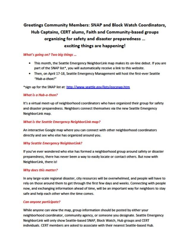 Hub-a-thon FAQ, page 1 of 2