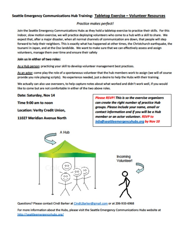 Tabletop exercise informational flyer