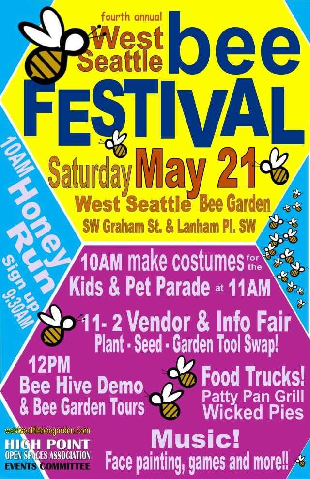 Flyer for the 4th Annual West Seattle Bee Festival