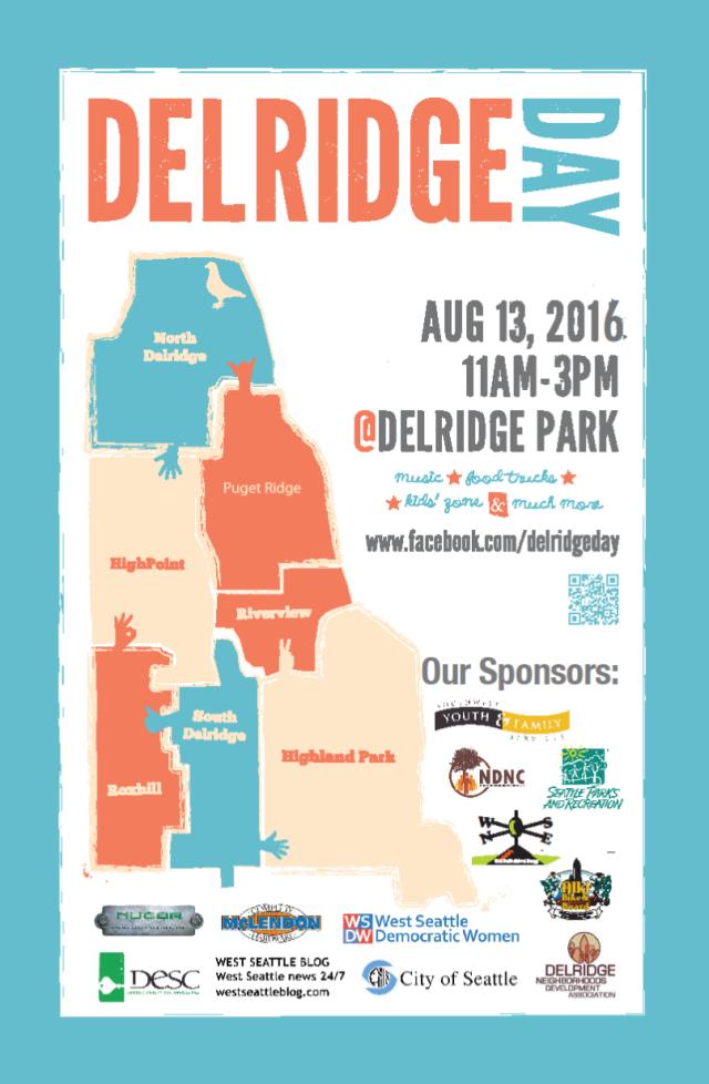 Delridge Day 2016 poster